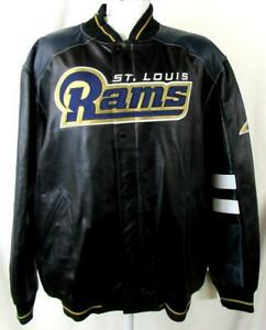 St Louis Rams Mens L or XL Embroidered Full Zip All Leather Jacket B1 509