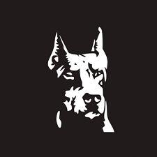 Car SUV Doberman Guard Dog Reflective Graphics Sticker For Body/Window/Fenders