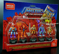 Masters Of The Universe He-Man Skeletor Set Mega Construx Battle for Eternia New