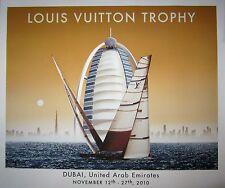 """Razzia Hand-Signed Poster """"Louis Vuitton Trophy 2010-Dubai """" on Linen"""