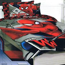 Ultimate Spiderman - Web Warriors Red - Queen Bed Quilt Doona Duvet Cover Set