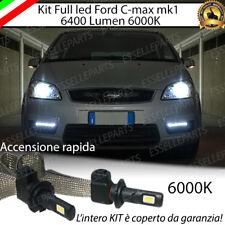 KIT FULL LED FORD C-MAX C MAX MK1 LAMPADE H7 6000K XENON BIANCO GHIACCIO NOERROR