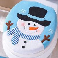 1pc Christmas Snowman Toilet Seat Cover Novelty Design Single Toilet Cover Blue