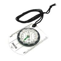 Multifunctional Equipment Outdoor Camping Mini Compass Map Scale Portable T5B5