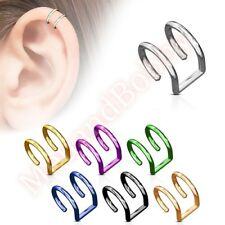 Non Piercing Fake Cartilage Clip On Ear Ring CHOOSE SINGLE OR PAIR