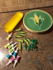 Corn on the cob holders and plates mixed lot GUC