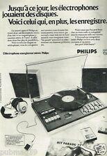 Publicité advertising 1973 Electrophone enrengistreur Stéréo Philips