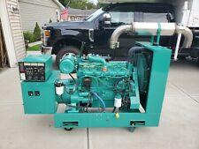 Cummins Onan 40kw Diesel Generator Model 40dl6t27565a Works 345 Hours