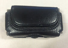 Small Black Leather Phone Holder