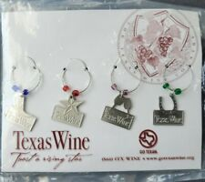 Texas Wine Glass Drink Markers . Set of 4 . New
