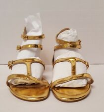 NWOT MESSECA NY WOMEN'S GOLD GLADIATOR SANDALS SIZE 6