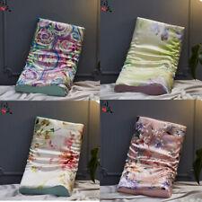 1Pcs Silk Pillowcase Memory Foam Contour Pillow Cover Cases Floral Pillow Case