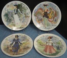Vintage Set 4 D'Arceau Limoges Women of the Century Plates French Women R Ganeau