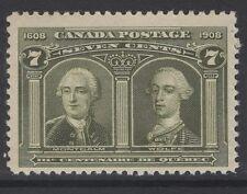 Canadá SG192 1908 7c estampillada sin montar o nunca montada Verde Oliva