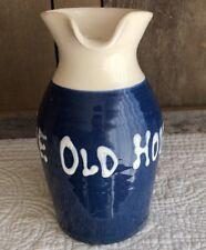 Vintage Blue/White Glaze Eton Windsor Pottery Jug/Pourer Pitcher THE OLD HOUSE