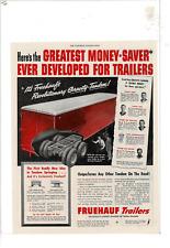 SEP 1949 SATURDAY EVENING POST FRUEHAUF TRAILERS GRAVITY-TANDEM AD PRINT D347