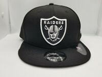 NEW ERA 9FIFTY SNAPBACK HAT.  NFL.  OAKLAND RAIDERS.  BLACK.