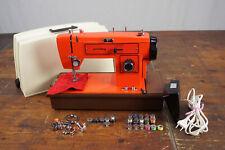 Nähmaschine Privileg Vintage orange Retro 70s 4C-125G Metall Koffer 70er