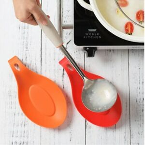 Spoon Rest Pan Multipurpose Silicone Holder Heat Resistant Pad Home Kitchen Pot