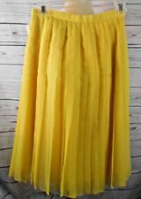 Vintage William Pearson Bright Yellow Pleated A-Line Skirt Sz 4 Made In Usa