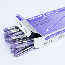 Uni-Ball Signo Noble Metal Pack of 12 Rollerball Pens (Violet)