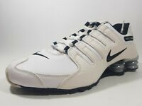 Nike Womens Shoes Shox NZ EU 488312 111 Running Leather White Sz 11.5 Rare