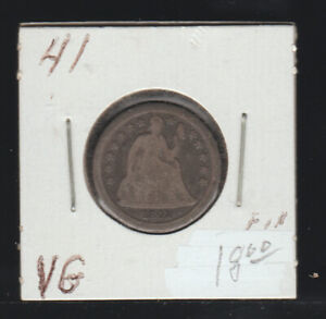 1841 Seated Liberty Dime, VG