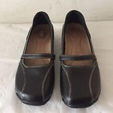 a6a4f2af51db2 STRICTLY COMFORT Melissa Black Leather Mary Jane Slip On Comfort Shoes Sz  6.5
