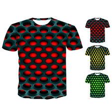 Hombre Tops Camiseta Cuello Redondo 3D Estampado SPORTS Manga Corta