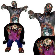 ZOMBIE PICK ME UP COSTUME SKIN SUIT DEAD APOCALYPSE ADULTS FANCY DRESS RIDE ON