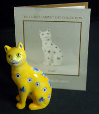 Franklin Mint Curio Cabinet Cat Figurines Galle Rare