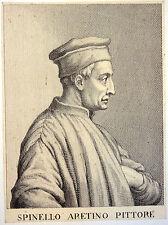 Gravure Etching Kupferstich Incisione, Spinello Aretino Pittore, G. Batt. Cecchi