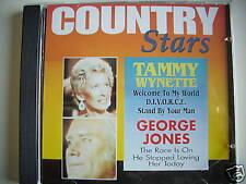 COUNTRY STARS TAMMY WYNETTE GEORGE JONES CD 7173