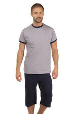 AMBASSADOR Short Pyjama Set Size S Organic Cotton Elasticated Waist Crew Neck