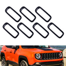 7pcs Front Grille Insert Grill Trim Ring Fit For Jeep Renegade 4 Door 2015-2018