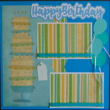 12X12 HAPPY BIRTHDAY PREMADE SCRAPBOOK PAGE LAYOUT PAPER PIECING - TONYA