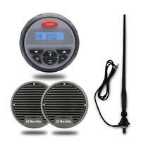 "Herdio 12V Marine  FM/AM Boat Bluetooth Radio stereo+3"" Boat speakers+ Antenna"