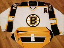 Vintage Boston Bruins Brian Leetch Reebok Authentic Fight Strap Jersey 56 Rare