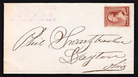 US STAMP 2 CENT BANKNOTE ON PETITE COVER SWARTZTRAUBER CIGARS DAYTON OHIO