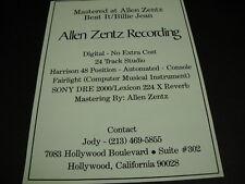 MICHAEL JACKSON Beat It/Billie Jean mastered at ALLEN ZENTZ RECORDING promo ad