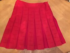 REDUCED-Beautiful Red Wool & Cashmere ETCETERA/Per Se Skirt, Sz 12