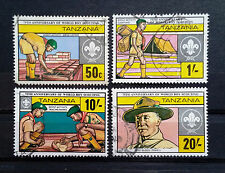 TANZANIA - 1982 - 75th Anniversary of Boy Scout Movement - Full set of 4 USED