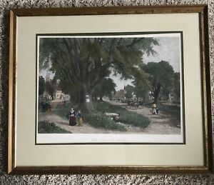 ALBERT FITCH BELLOWS THE VILLAGE ELMS COLOR Engraving