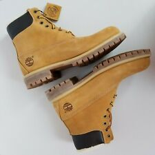 Timberland Men's 6 Inch Premium WARM LINED WHEAT NUBUCK Boots Waterproof A13GA 9