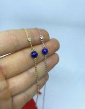 Lapiz Lazuli Bracelet Sterling Silver & Gold Plated