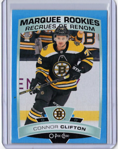 CONNOR CLIFTON 19/20 Upper Deck OPC O-Pee-Chee Marquee Rookie Blue Border #624