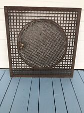 Large Antique Cast Iron Floor Grate Heat Register Cold Air Quality Excellent