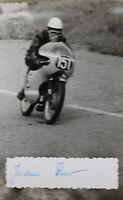 27511 Moto Rennen Foto Con Autografo Joachim Knorr DDR 1962 Photo Bici