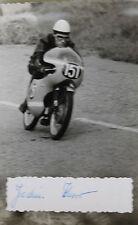 27511 courses motocyclistes PHOTO avec AUTOGRAPHE Joachim KNORR RDA 1962 Photo bike