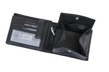 Portefeuille Noir Petit Minibörse de nombreuses cartes Paysage LEAS vraiment-Cuir